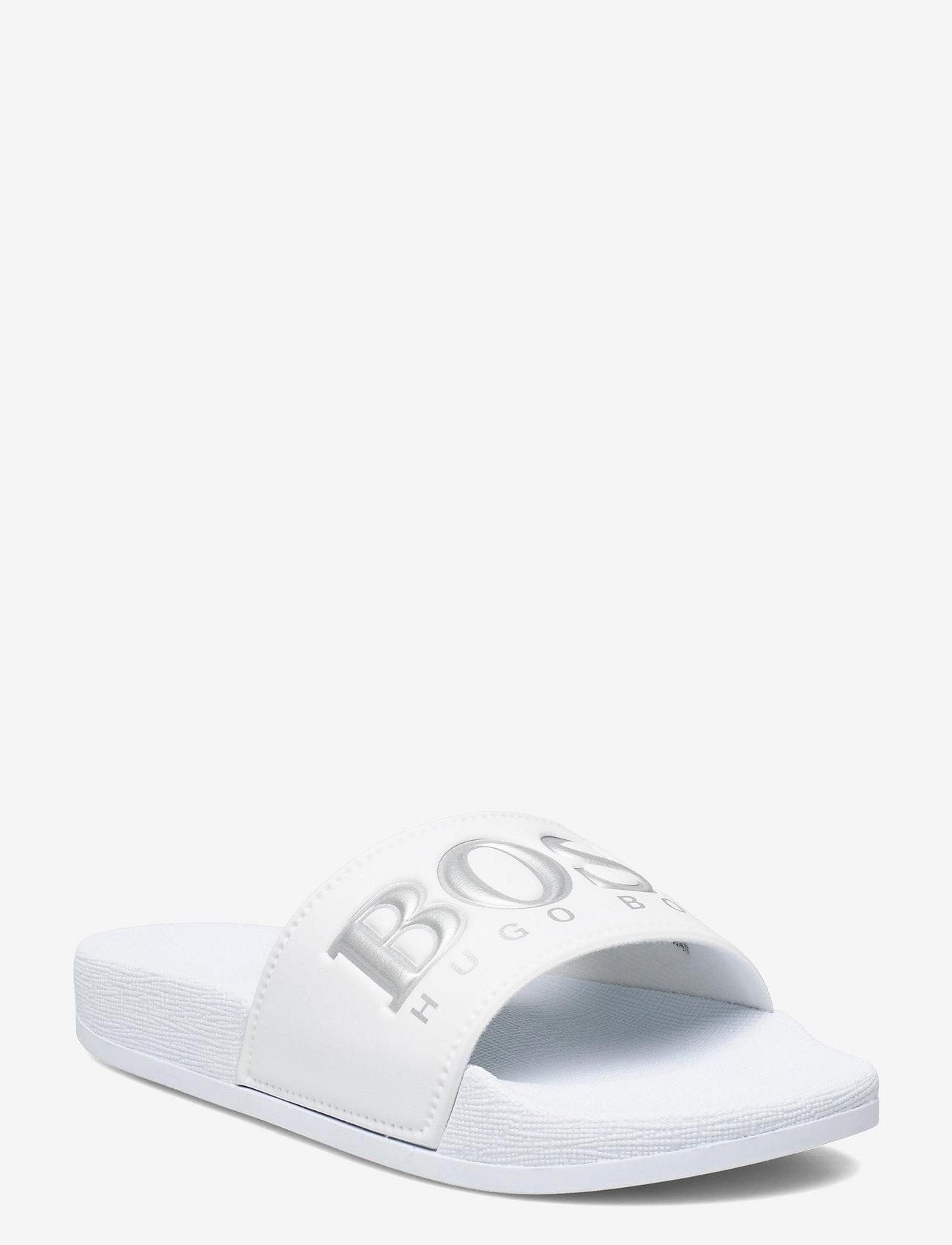 BOSS - SANDALS - pool sliders - white - 0