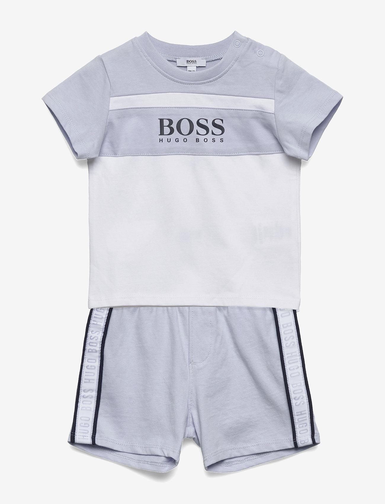 BOSS - T-SHIRT+SHORTS - short-sleeved - pale blue