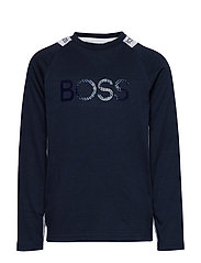 LONG SLEEVE T-SHIRT - NAVY  WHITE