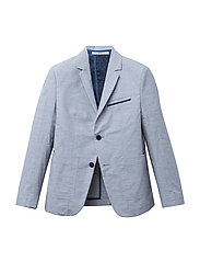SUIT JACKET - GREY  WHITE