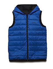 PUFFER JACKET SLEEVELESS - ELECTRIC BLUE
