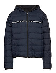 PUFFER JACKET - BLUE NAVY/BLACK