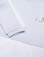 BOSS - PYJAMAS + PULL ON HAT SET - langärmelig - pale blue  white - 3