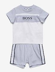 BOSS - T-SHIRT+SHORTS - short-sleeved - pale blue - 0