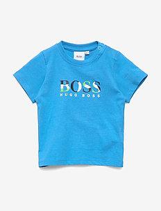 SHORT SLEEVES TEE-SHIRT - logo - turquoise