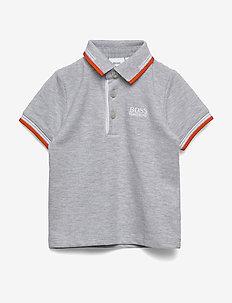 SHORT SLEEVE POLO - polo shirts - chine grey