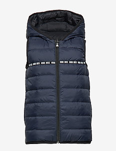 PUFFER JACKET SLEEVELESS - NAVY