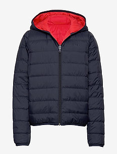 PUFFER JACKET - NAVY  RED