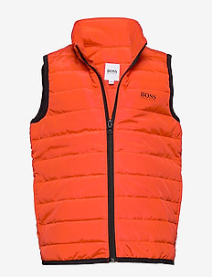 PUFFER JACKET SLEEVELESS - vests - bright red