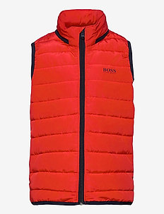 PUFFER JACKET SLEEVELESS - gilets - bright red
