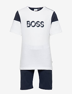 T-SHIRT AND BERMUDA SHORTS - WHITE  NAVY