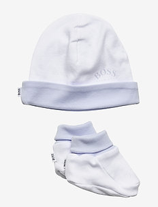 PULL ON HAT+SLIPPERS - hats - white