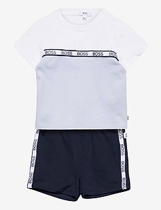 T-SHIRT AND BERMUDA SHORTS - jeu de 2 pièces - blue  white