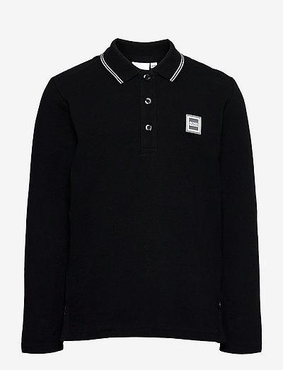 LONG SLEEVE POLO - polo shirts - black