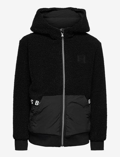 REVERSIBLE CARDIGAN - hoodies - black