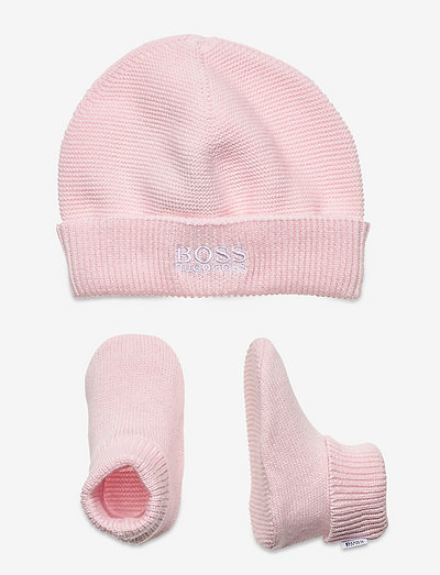 PULL ON HAT+SLIPPERS+BOX - gift sets - pink  pale