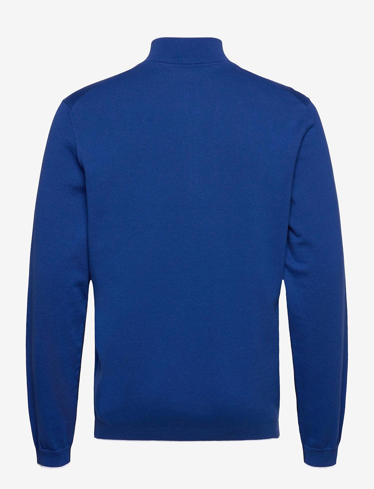 BOSS - Ziston_S21 - half zip - bright blue - 1