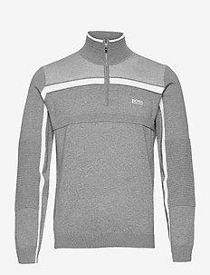 Zemi - half zip - light/pastel grey