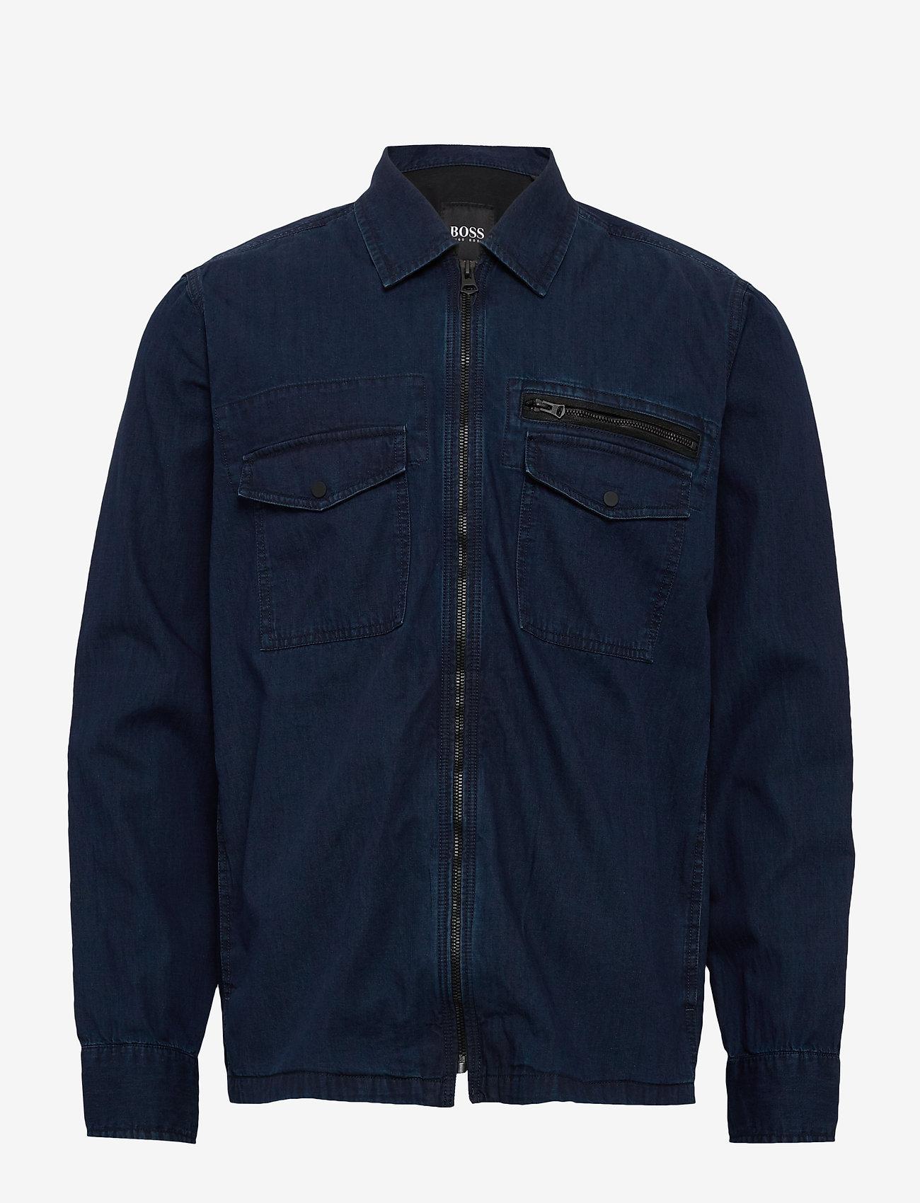 BOSS - Lovel-zip_3 - denimjakker - dark blue - 1