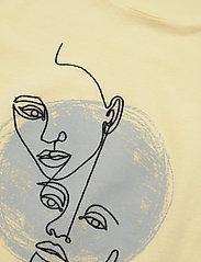 BOSS - Tevision - t-skjorter med trykk - light/pastel yellow - 5