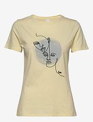 BOSS - Tevision - t-skjorter med trykk - light/pastel yellow - 1