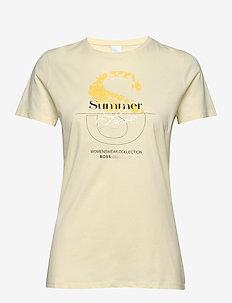 Tenovel - t-shirts med tryk - light/pastel yellow