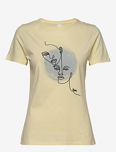 Tevision - t-shirts med tryk - light/pastel yellow