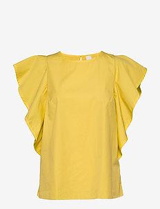 Ciguida - kortermede bluser - bright yellow