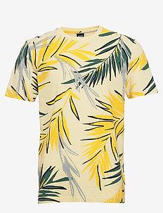 Teleaf - kortærmede t-shirts - light/pastel yellow