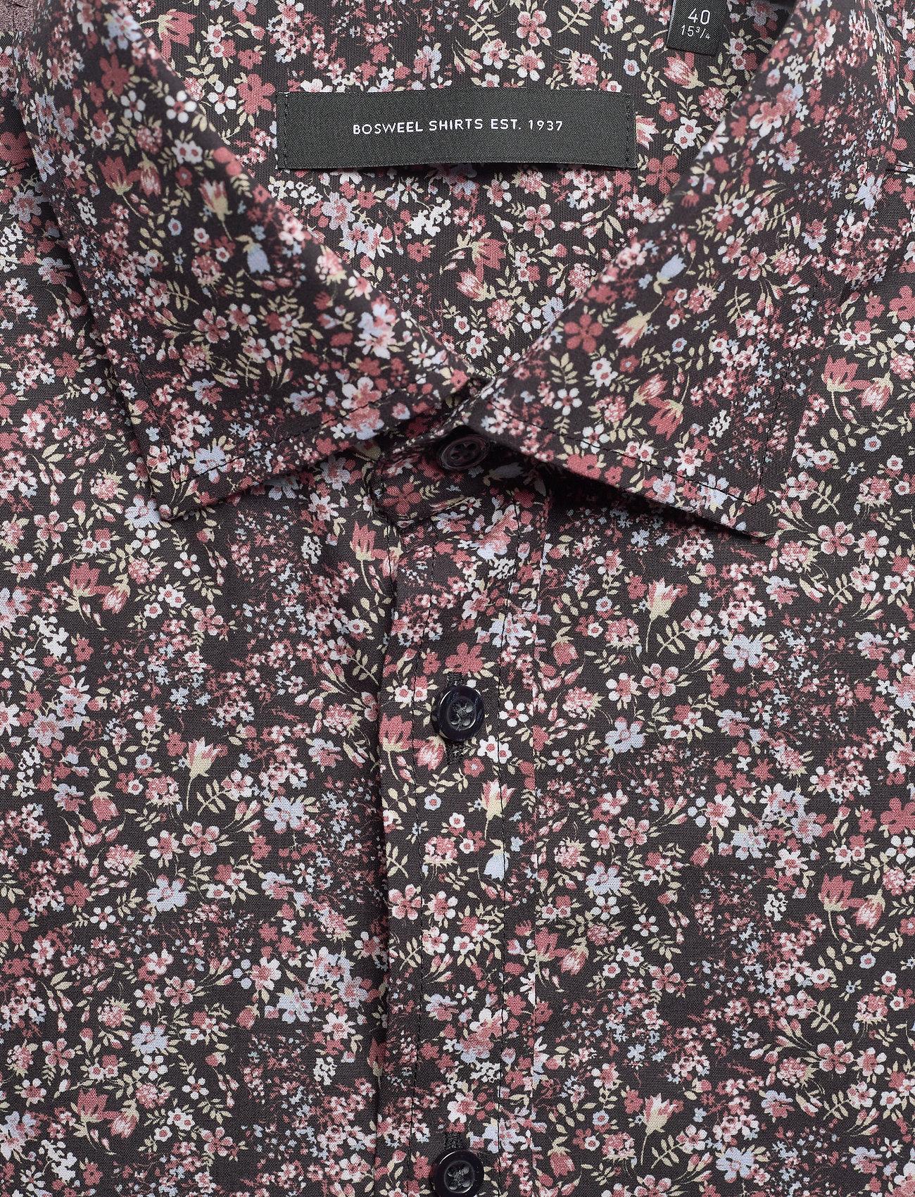 Bosweel Berry coloured flower print - Skjorter RED - Menn Klær