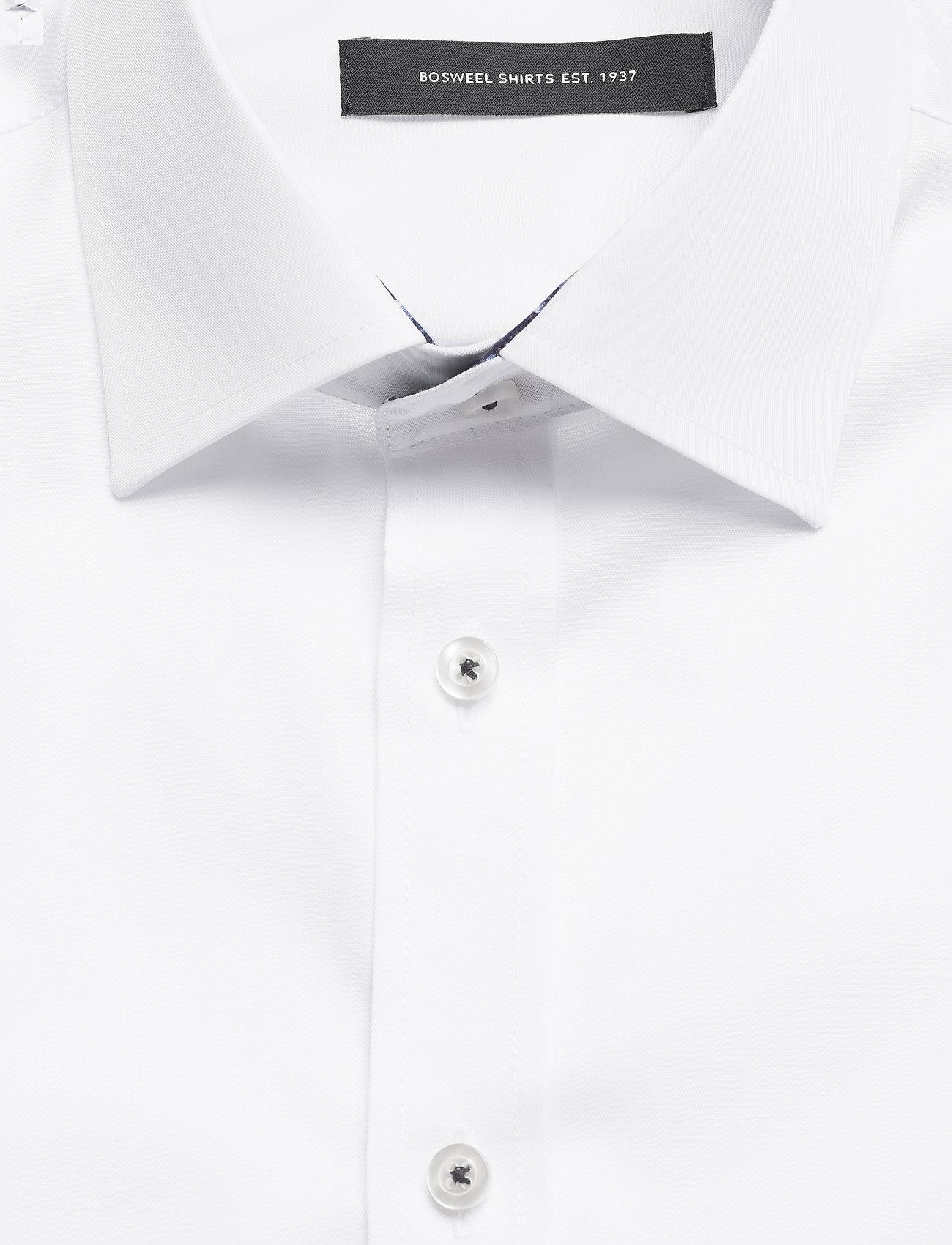 Bosweel Cotton twill with flower contrasts - Skjorter WHITE - Menn Klær