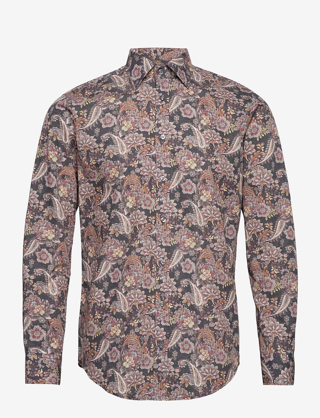 Bosweel Shirts Est. 1937 - Playful blue print - chemises décontractées - grey - 0