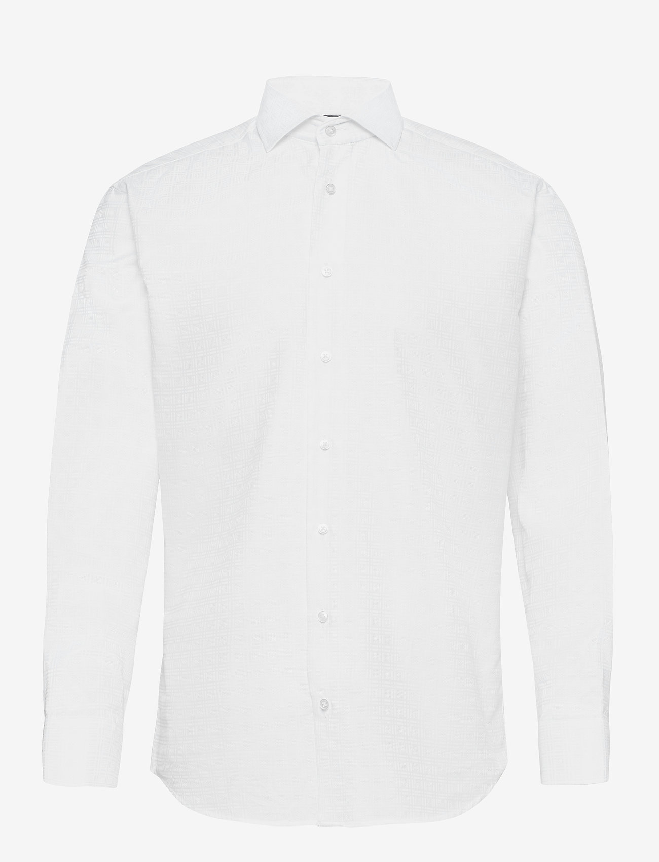 Bosweel Shirts Est. 1937 - 2PLY pattern in white - chemises basiques - white - 0