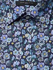 Bosweel Shirts Est. 1937 - Blue flowers on navy - chemises d'affaires - dark blue - 2