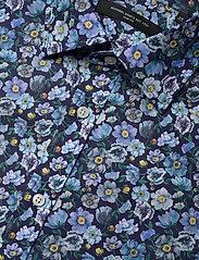 Bosweel Shirts Est. 1937 - Blue flowers on navy - chemises d'affaires - dark blue - 3