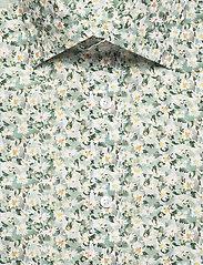Bosweel Shirts Est. 1937 - White flowers in green - chemises d'affaires - green - 2