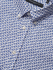 Bosweel Shirts Est. 1937 - Small flowers on white Oxford - chemises décontractées - blue - 3