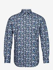 Bosweel Shirts Est. 1937 - Blue flowers on navy - chemises d'affaires - dark blue - 0