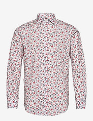 Bosweel Shirts Est. 1937 - Red flowers on white - chemises décontractées - red - 0