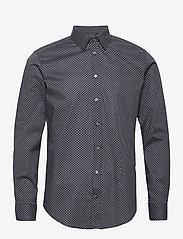 Bosweel Shirts Est. 1937 - Sand dots on navy blue - chemises d'affaires - dark blue - 0
