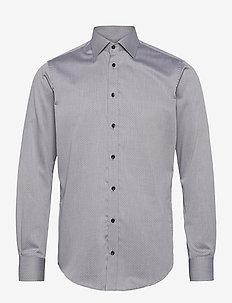 Light grey with small black pattern - formele overhemden - grey