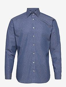 Tone in tone flower print - formele overhemden - blue