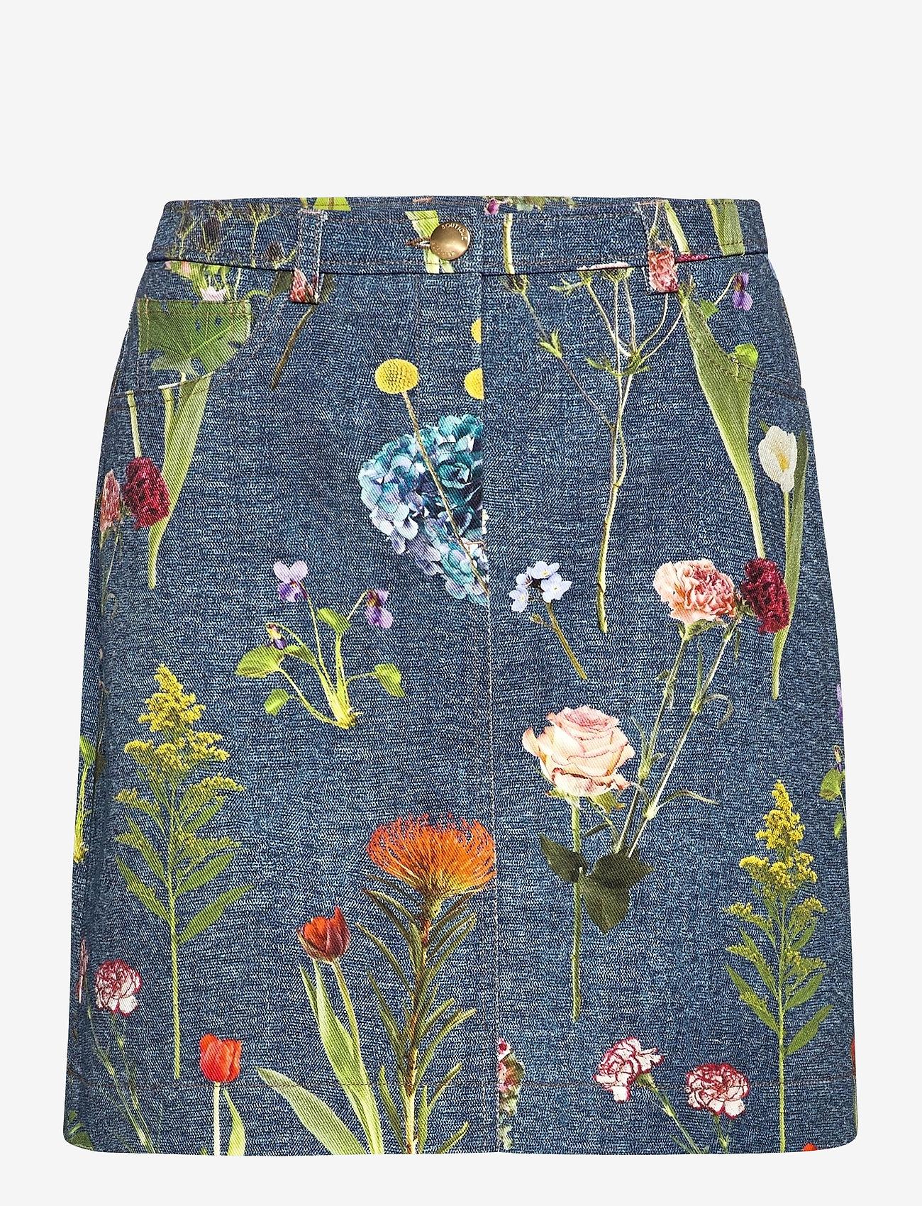 Boutique Moschino - BOTANIC SKIRT - korte nederdele - blue fantasy print - 0