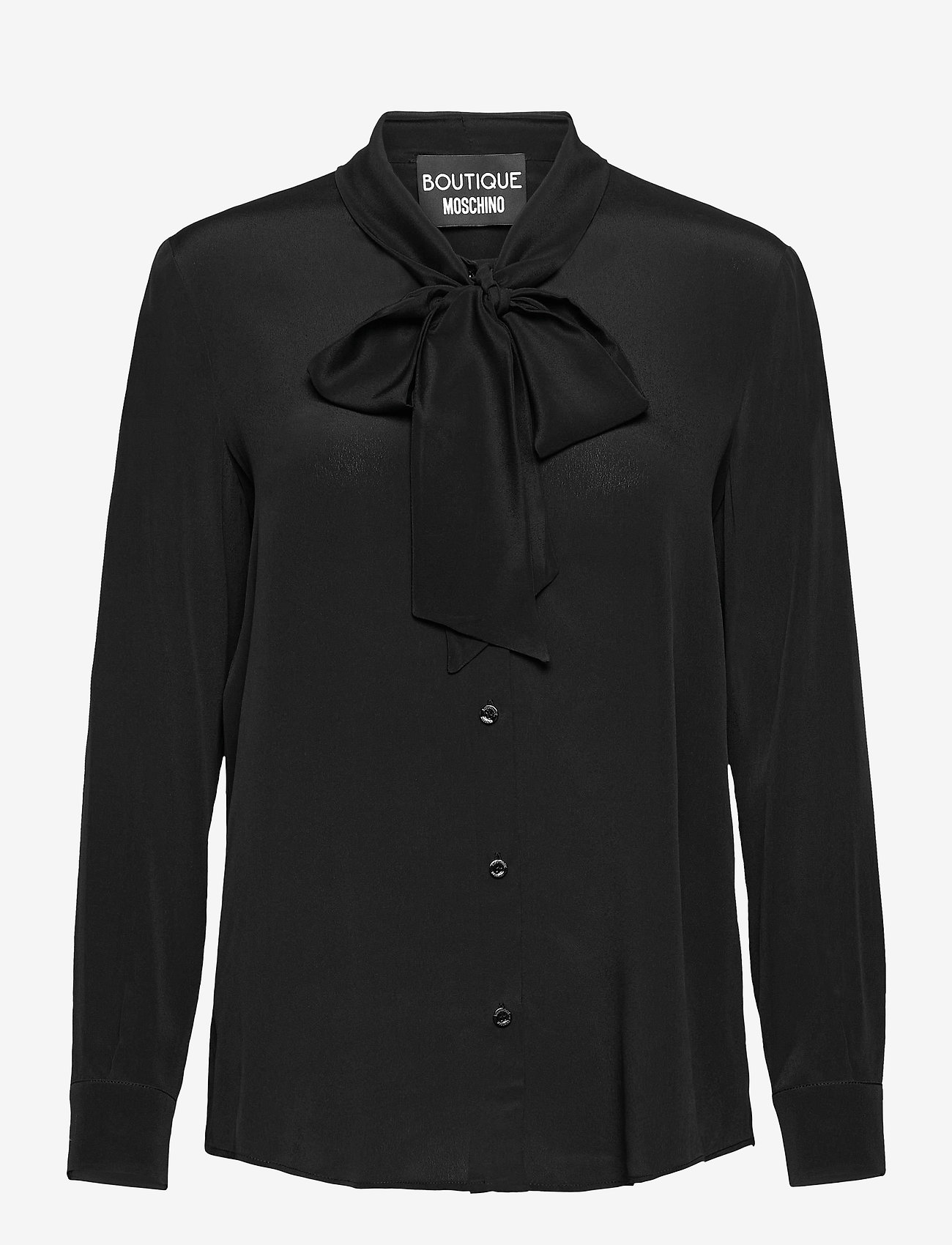 Boutique Moschino - Boutique Moschino BLOUSE - langærmede bluser - black - 0