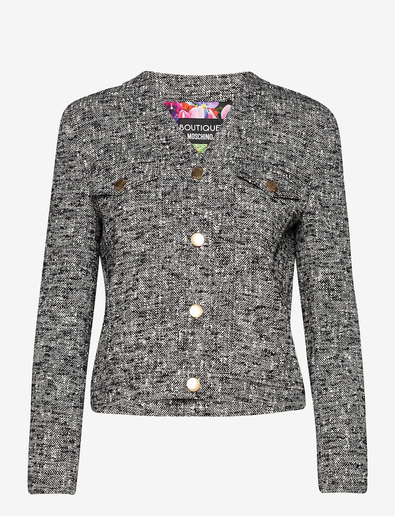 Boutique Moschino - BLUMEN JACKET - tøj - black fantasy print - 0