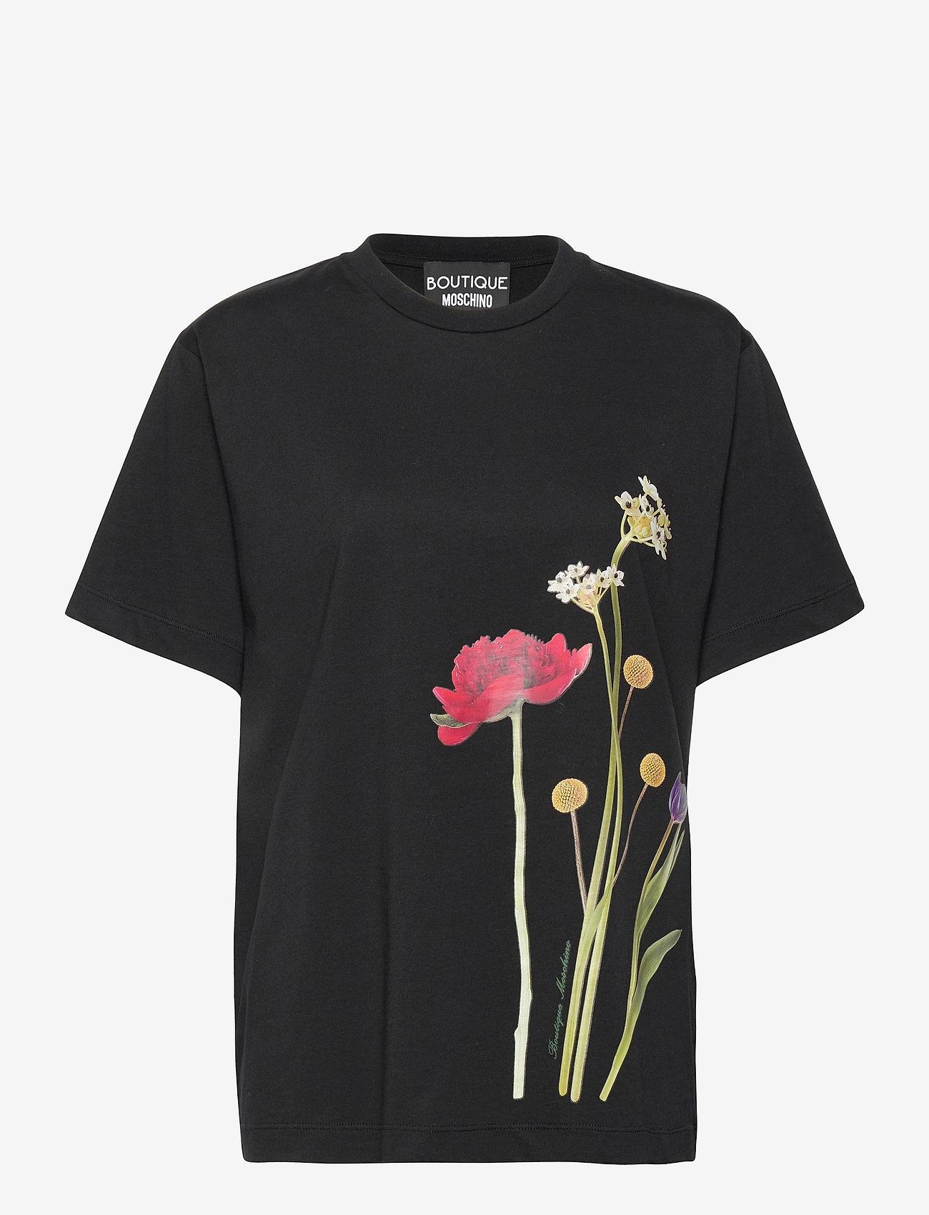 Boutique Moschino - BOTANIC T-SHIRT - t-shirts - black fantasy print - 0