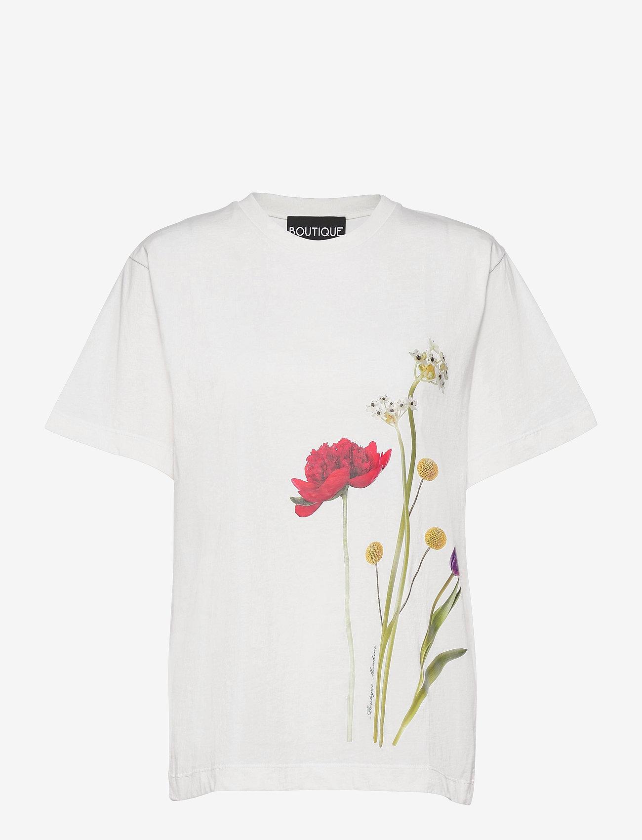 Boutique Moschino - BOTANIC T-SHIRT - t-shirts - white fantasy print - 0