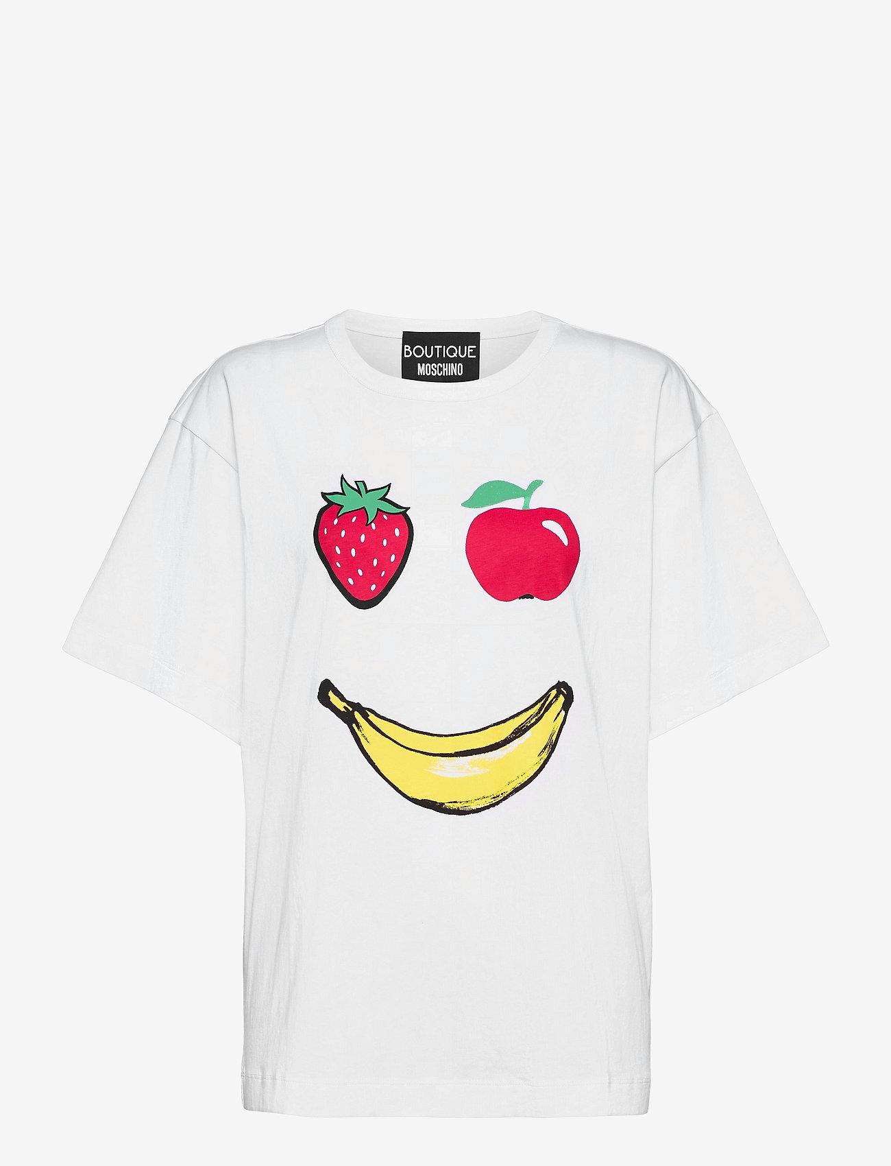 Boutique Moschino - APPLES T-SHIRT - t-shirts - white fantasy print - 0