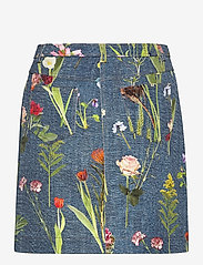 Boutique Moschino - BOTANIC SKIRT - korte nederdele - blue fantasy print - 1