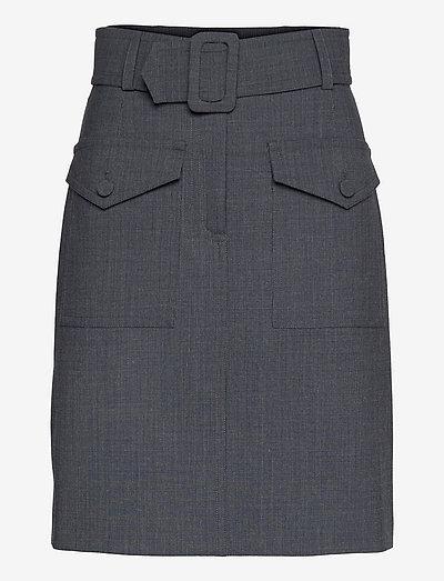 Grey Skirt - korta kjolar - grey